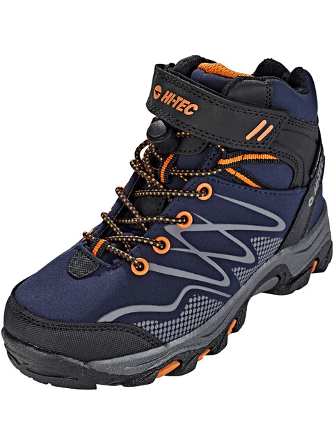Hi-Tec Blackout Mid WP Shoes Boys Navy/Orange